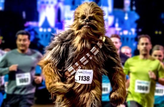 The inaugural Star Wars Half Marathon began at 5:30 am.