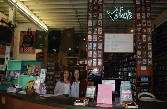 Vidiots co-owners Cathy Tauber and Patty Polinger are thankful for the financial hands that saved the store at 302 Pico Blvd.