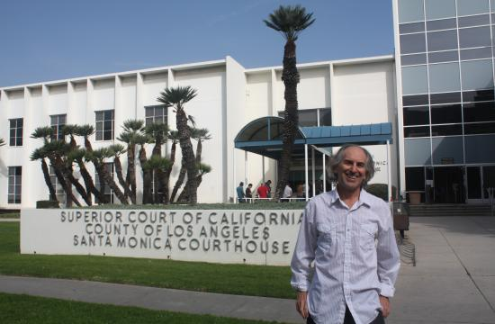 A jury ruled in favor of Santa Monica renter Paul Aron on Wednesday in a landmark tenant eviction case. A jury found his landlord tried to evict him with intentions of malice.