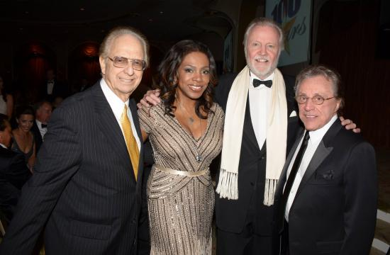 Night of 100 Stars producer Norby Walters (left) at the 2014 Oscars viewing party with Sheryl Lee Ralph
