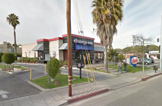 A man was arrested after putting a hole in the wall of Burger King at 1919 Pico Blvd. in Santa Monica.