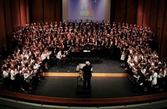 The 66th annual Stairway of Stars choir concert returns at Barnum Hall tonight. A band concert will be held Thursday