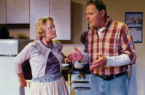 """Karen Landry and Chris Mulkey star in David French's """"Leaving Home"""" on stage at Ruskin Group Theatre in Santa Monica."""