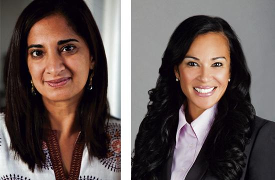 """Mallika Chopra (left) and Denita Willoughby will be honored with the Chamber's """"Owlie Award"""" for enhancing women's lives everywhere through inspirational storytelling."""