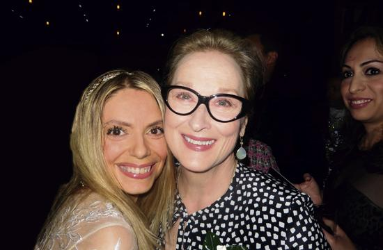 Santa Monica actress Marie Paquim and Meryl Streep at the Women In Film's event.