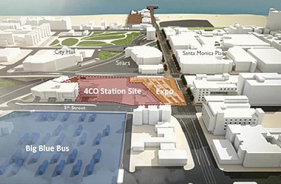 City Council approved short-term interim uses for the Colorado/4th Street (pictured) and Colorado/17th Street Expo Line stations on Tuesday.
