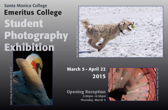 The Annual Emeritus College Student Photography Exhibition runs March 5-April 22 in SMC's Emeritus College Gallery