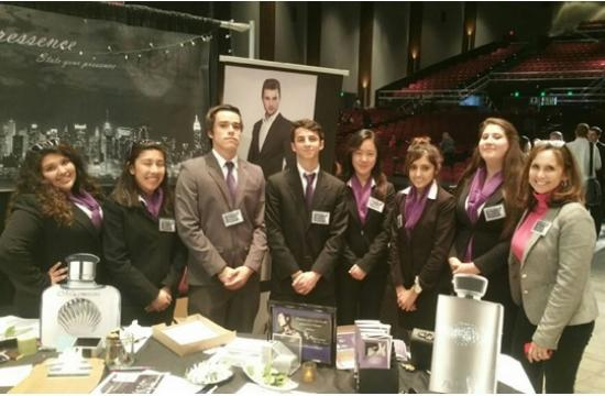 Santa Monica High's Virtual Business Plan earns first place at a Simulated Trade Show.