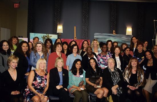 Santa Monica's businesswomen gathered for a morning of celebration on Monday.