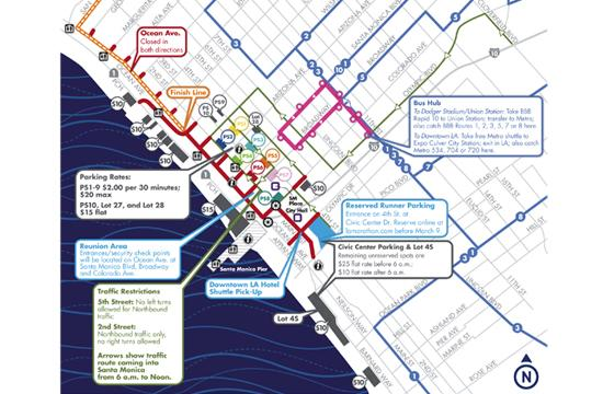 The LA Marathon will end on Ocean Avenue in Santa Monica on Sunday.