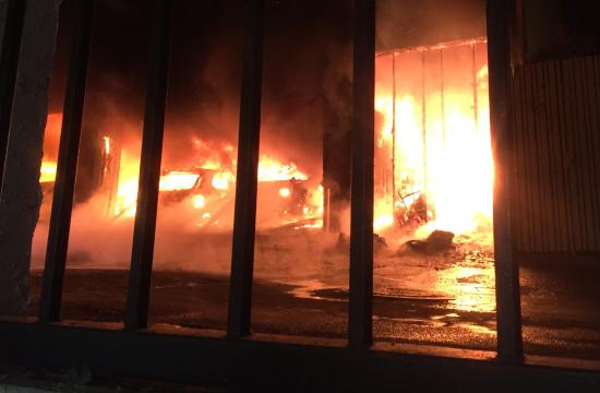 An apartment building at 828 15th Street in Santa Monica went up in flames early Monday.