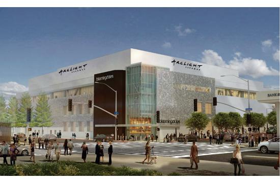 A rendering of the ArcLight currently under construction on the top floor of Santa Monica Place.