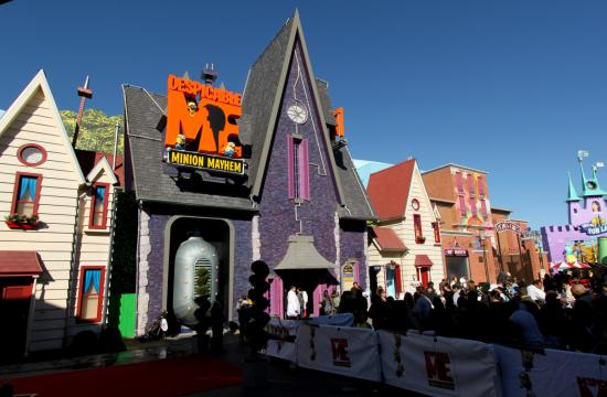 Authorities say the shooting happened near the Despicable Me Minion Mayhem.