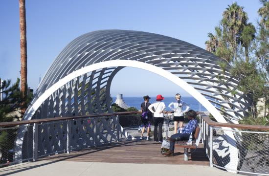 Tongva Park has sweeping views of the Ocean.