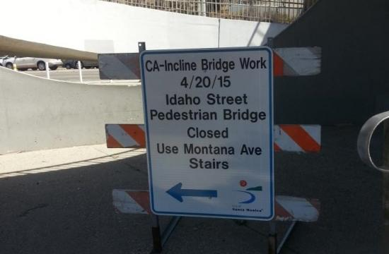 Crews posted closure signs all around the California Incline early today.