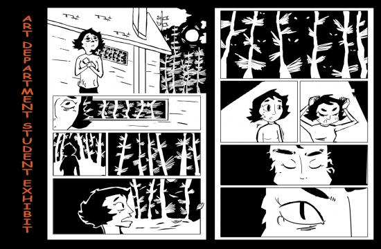 Excerpt from a graphic novel by Alan Nuno will be on display at the Annual SMC Art Department Student Exhibit at SMC's Pete