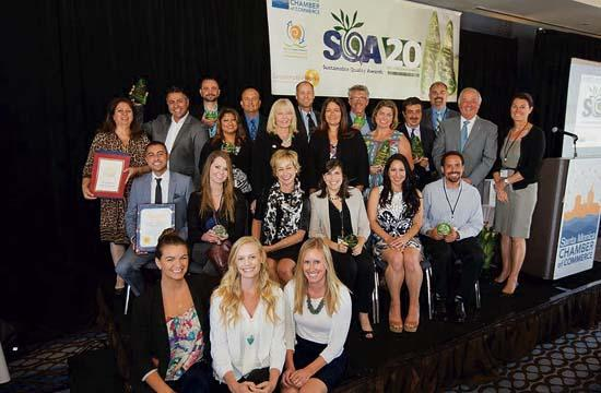 The 2015 SQA Sustainable Quality Awards winners.
