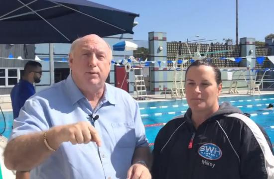 Brock on Your Block host Phil Brock talks with Mikey Flaherty of the organization Swim With Heart in Santa Monica.