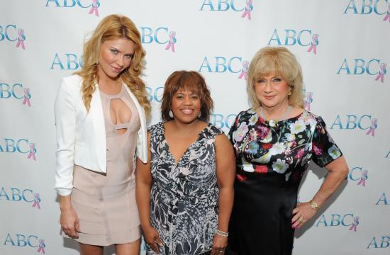 Honorees Brandi Glanville and Chandra Wilson with ABCs President Gloria Gebbia.