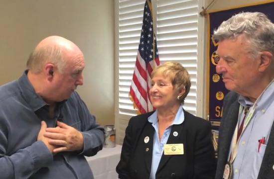 Brock on Your Block host Phil Brock talks with Santa Monica Lions Club president Linda Levee and other members Dr. Arnold Levee and Dr. Kingsley Fife about the organization and their history.