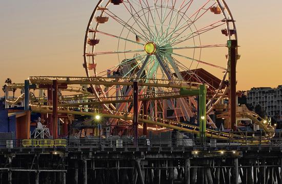 Sunrise at Santa Monica Pier