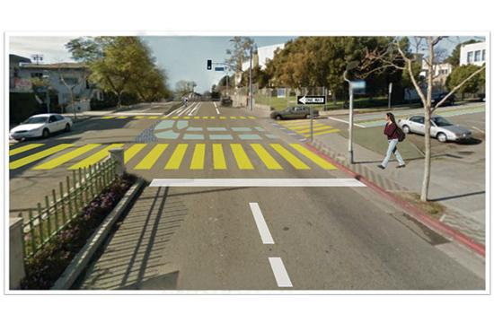 Crosswalks near Santa Monica High School will be among the improvements for pedestrian safety thanks to a large grant.