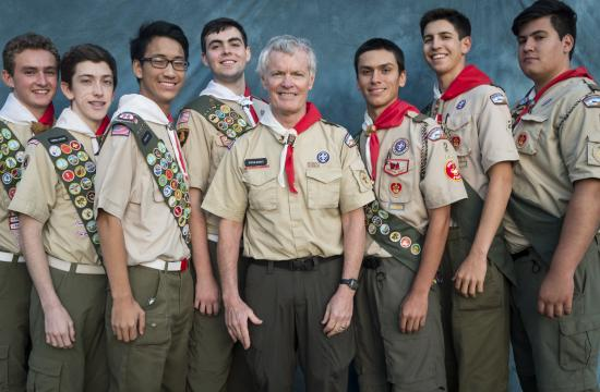 June 2015 Troop 2 Eagle Scout candidates (from left) Bennett G. Zemke
