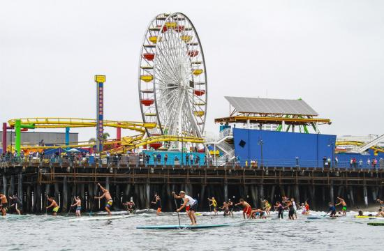 The 6th Annual Tommy Bahama Paddleboard Race and Ocean Festival at the Santa Monica Pier will be held this Saturday