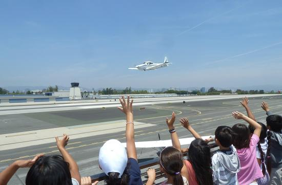 Edison Language School visit Santa Monica Airport.