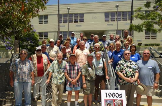 Santa Monica High students from the 1960s pose at the 2014 All-Class Reunion Picnic.
