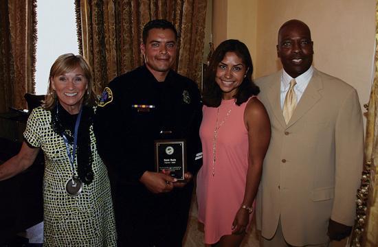 Santa Monica Fire Department honoree Sam Ruiz