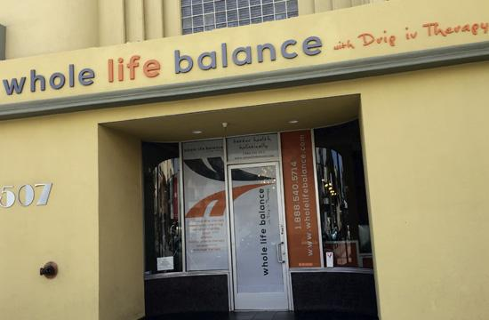 Whole Life Balance with Drip IV Therapy has opened at 507 Wilshire Blvd.