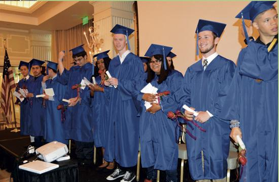 Olympic High School celebrated the graduation of its 36 seniors at a ceremony June 3 at Casa del Mar Hotel in Santa Monica.