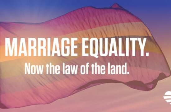 Celebrations are taking place across the United States and on social media with the hashtag LoveWins after the Supreme Court ruled today in a 5-4 decision that same-sex couples have the constitutional right to marry nationwide.
