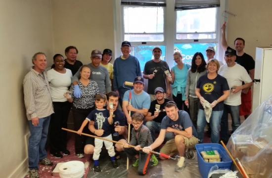 Santa Monica Rotary Club members on the day.