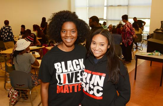 Santa Monica College students Aurelia Rhymer (left) and Haley Coleman (right) were able to reach their educational goals through the support of SMC's Black Collegians program