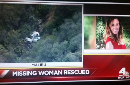 A woman reported missing from the Simi Valley area on Monday has been rescued from a Malibu hillside.