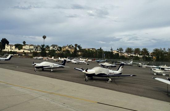 The 12 acres of tie-downs at Santa Monica Airport will eventually be turned into parks