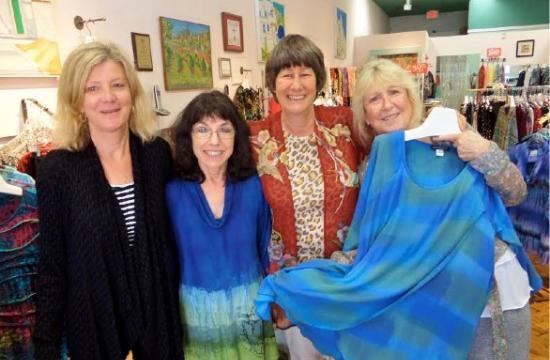 Santa Monica Bay Woman's Club Board President Becky Upchurch with Laura Owen