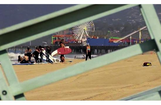 Spotted: An unpermitted surf school lesson takes place on Santa Monica Beach. A local permitted surf school owner who pays the City of Santa Monica business tax says the problem of unlawful operations is escalating with surf instructors coming from as far away as Orange County to conduct their lessons in Santa Monica because of non-existent enforcement.