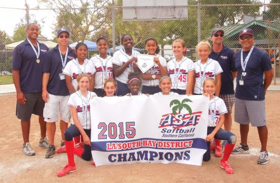 The 12U Gold All-Star Team (pictured left to right