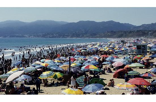 Santa Monica Beach is a forum where all are welcome and where all are embraced.