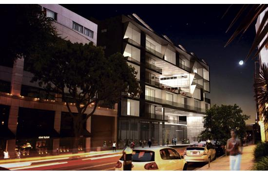 NMS Properties is proposing to build a new six-story (84 feet) mixed-use project at 1415 5th St.