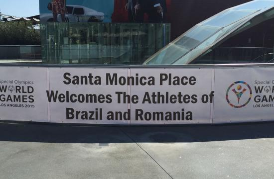 Santa Monica Place welcomed athletes and representatives from Brazil and Romania