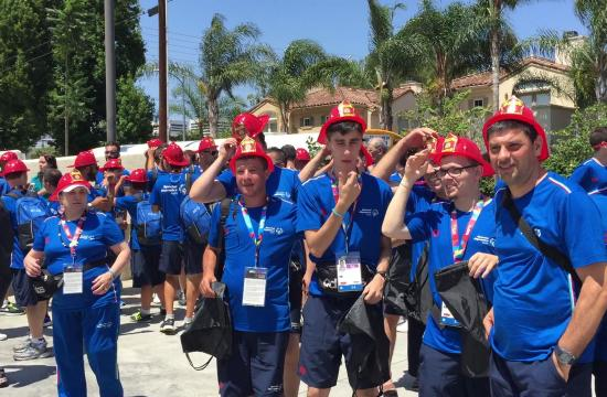 Fire Station 59 hosted a Special Olympics visit for the Italian delegation.
