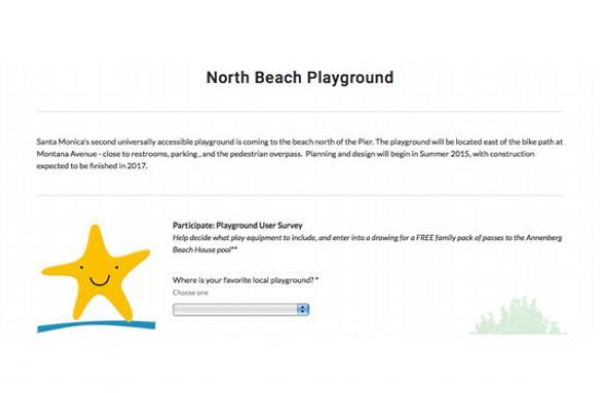 Santa Monica's North Beach Playground project kicks off with a user survey.