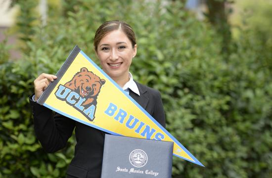 Santa Monica College student Cinthia Magaña was awarded the 2015 Chui L. Tsang Transfer Scholarship and will transfer to UCLA this fall.