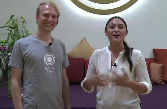 Naam Yoga LA in Santa Monica says a number of easy yoga techniques can be done while at work to reduce tension and stress.
