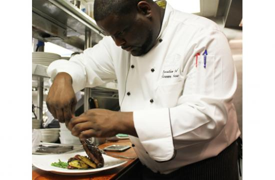 Hotel Shangi-La executive chef Kareem Shaw.