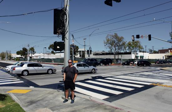 Area resident Greg Mantell feels strongly that there should be crossing gates implemented at the busy intersection of Colorado Avenue and Lincoln Boulevard when the Expo Light Rail Line becomes fully operational in early 2016. See story page 3.
